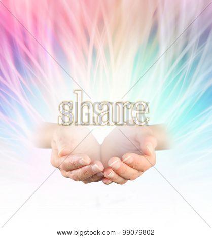 Sharing rainbow reiki healing energy