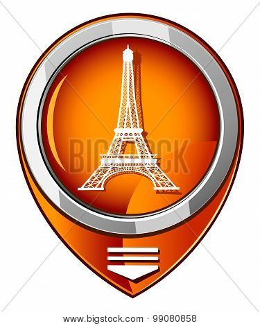 Eiffel Tower In Paris, France - Orange Pointer