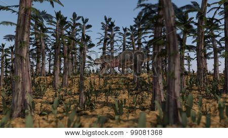 tarbosaurus in tempskya grove