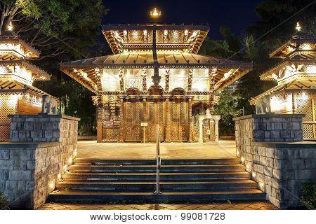 Nepalese Pagoda at South Bank, Brisbane, Australia