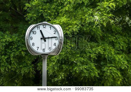 Street Clock Close Up