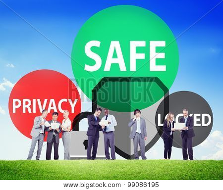 Safe Privacy Locked Security Protection Safe Insurance Concept