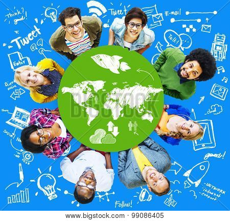 Cartography Earth Countries Diversity Global Concept