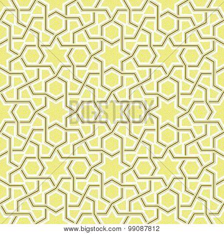 Geometric Light Golden Pattern