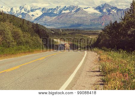 highway on Alaska