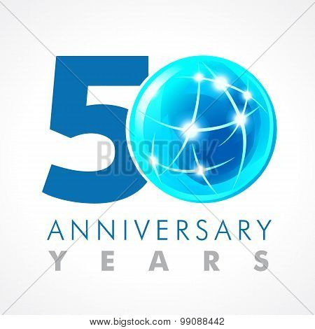 50 anniversary connecting logo