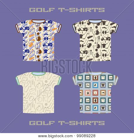 Golf t-shirt template vector illustration.