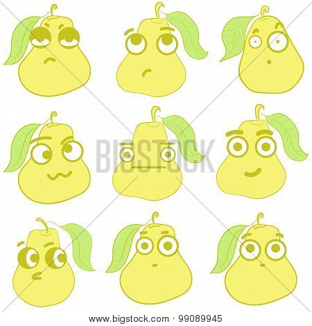 Clipart emotional pears