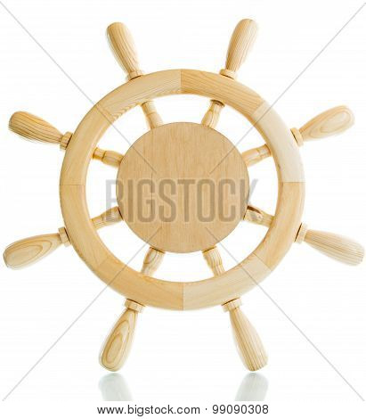 Decorative Wooden Steering Wheel