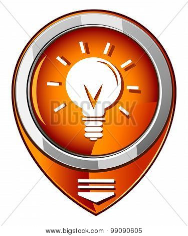 Light Bulb Orange Pointer