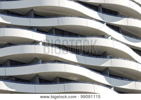 Building facade of the Wave Buiding, Gold Coast