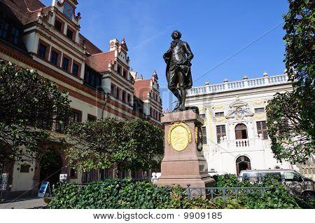 Statue of Johann Wolfgang Goethe - Leipzig, Germany
