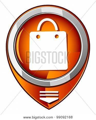 Vector Shopping Bag Orange Pointer