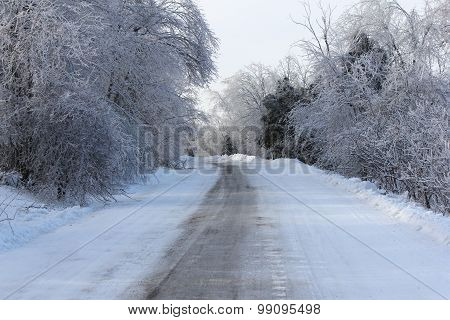 Ice Covered Roadway