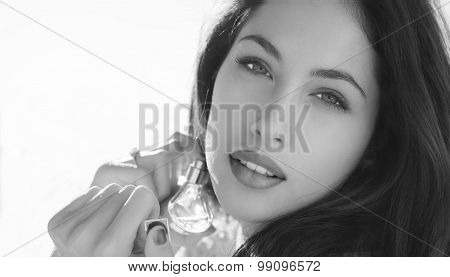 woman with perfume.