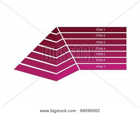 3D pyramid infographic on white background