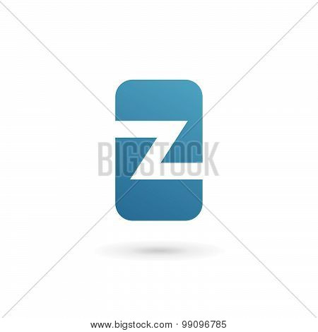 Mobile Phone App Letter Z Logo Icon Design Template Elements