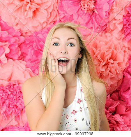 pretty surprised girl