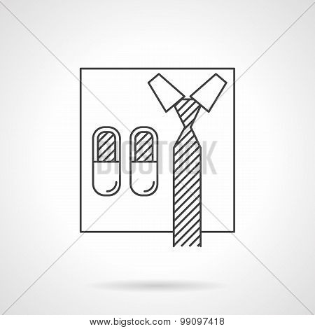 Abstract vector icon for online business