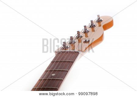 Neck Electric Guitar On A White Background