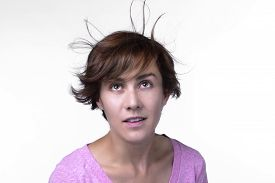 picture of blown-up  - Woman - JPG