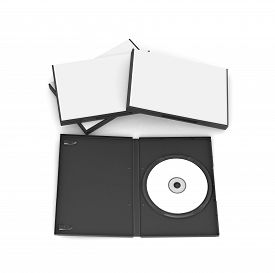 pic of jewel-case  - Blank Case and Disk isolated on a white background  - JPG