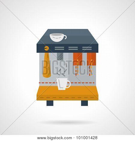 Rent of coffee equipment flat vector icon
