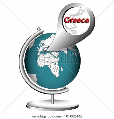 Illustration Vector Graphic Globe Greece