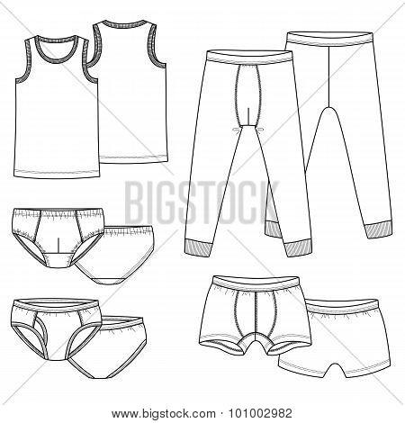 Underpants, briefs, shirt