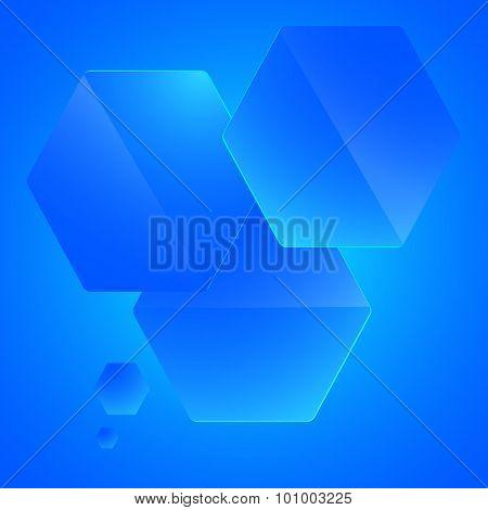 Infographics-template-presentation-hexagon-blue-empty