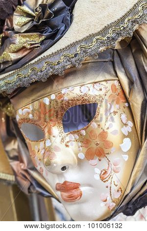 Mask on display at the Carnival of Venice, Carnevale di Venezia, Italy