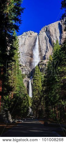 Lower And Upper Yosemite Fall, Yosemite National Park, California, Usa