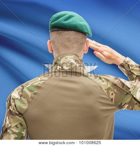 National Military Forces With Flag On Background Conceptual Series - Somalia