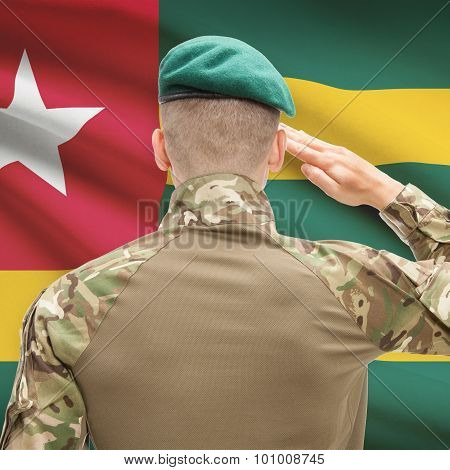 National Military Forces With Flag On Background Conceptual Series - Togo