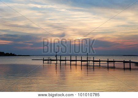 Bathing Pier Silhouette