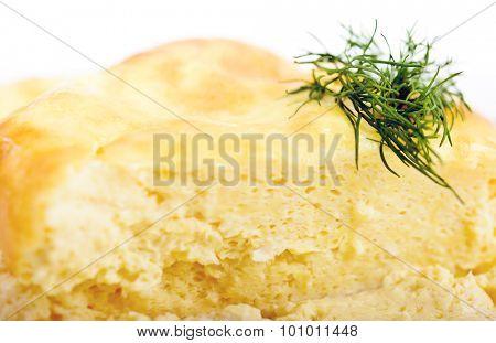 Fresh omelet theme macro view