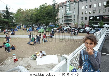 Syrian Immigrants In Tents