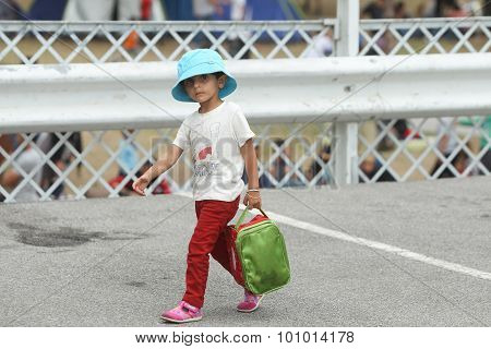 Syrian Refugee Child In Serbia