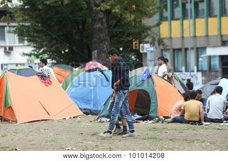 Syrian Refugees In Belgrade