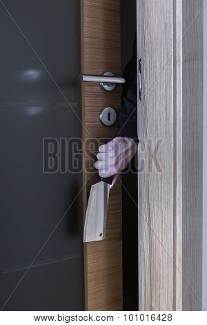 Burglar With Knife