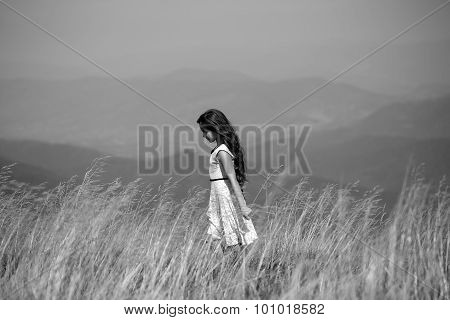 Young Girl In Valley