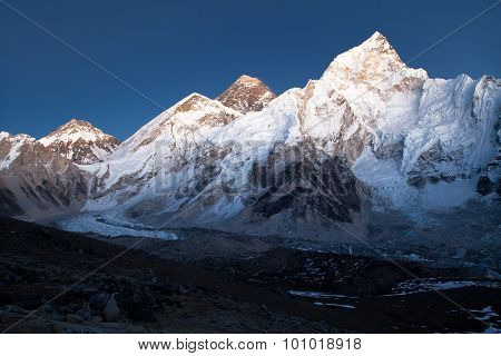 Everest And Nuptse From Kala Patthar
