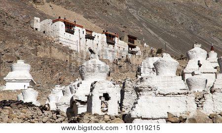Ruins Of Royal Palace In Nubra Valley, Ladakh