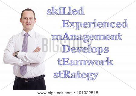Skilled Experienced Management Develops Teamwork Strategy Leader