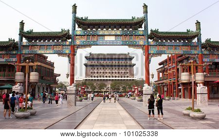 Qianmen Gate And Street In Beijing