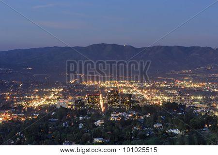 Canoga Park Night View