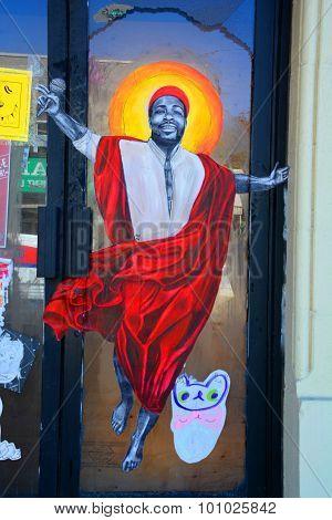 Street art Montreal preacher