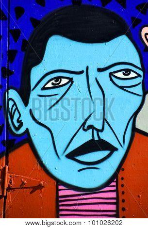 Street art Montreal weird people