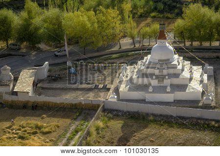Stupa near Shey palace Leh Ladakh ,India.