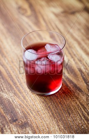 Red Cocktail In A Glass